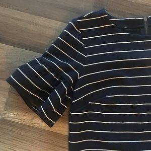 LOFT Dresses - Loft Small dress navy w/ white stripes NWT